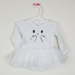 Cat &Jack newborn girls white bodysuit